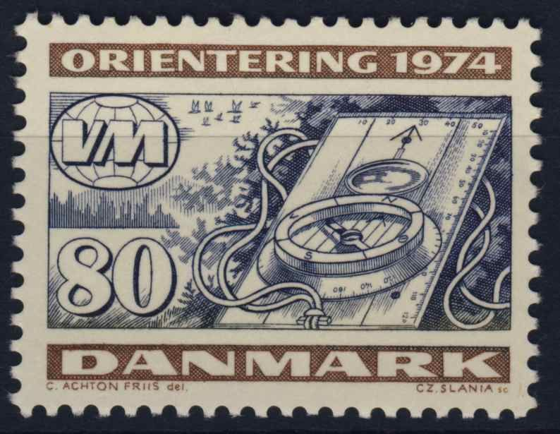 Orienteering stamp from Denmark