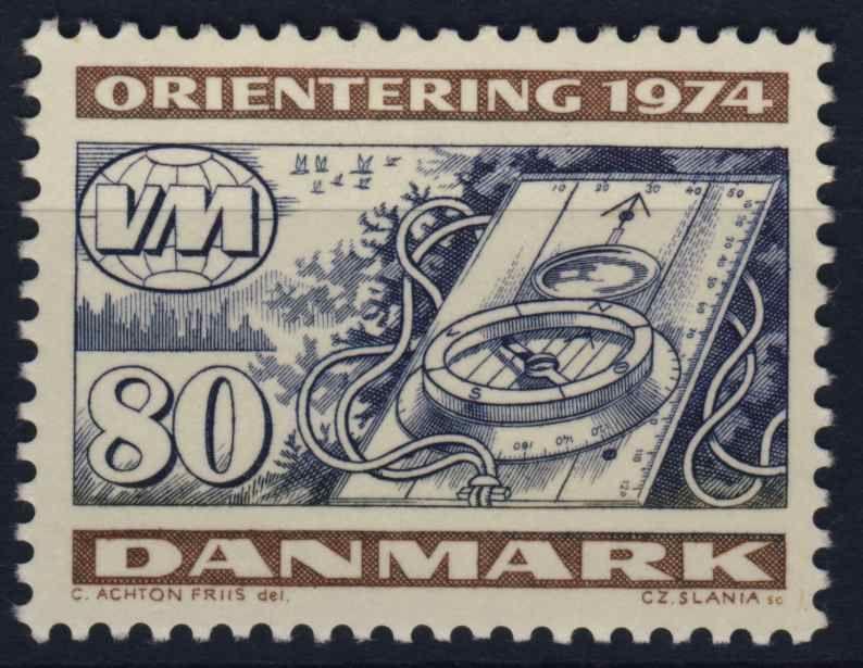 Orienteering stamp from Denmark