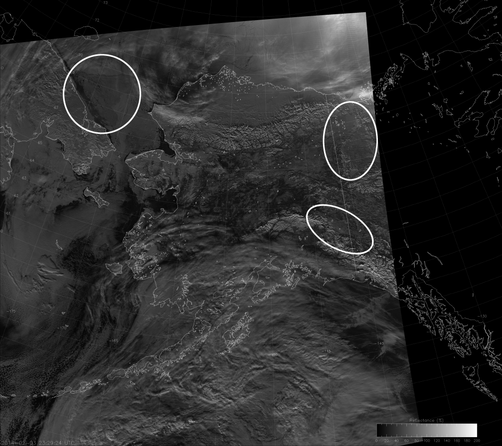 VIIRS NCC image, taken 23:29 UTC 3 February 2014