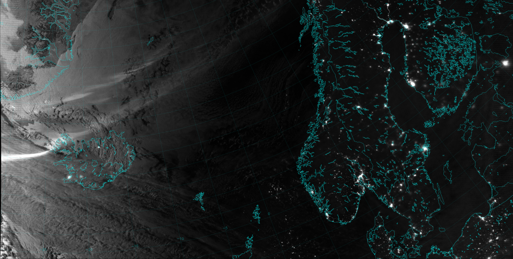 VIIRS Day/Night Band image, taken 02:31 UTC 10 January 2014