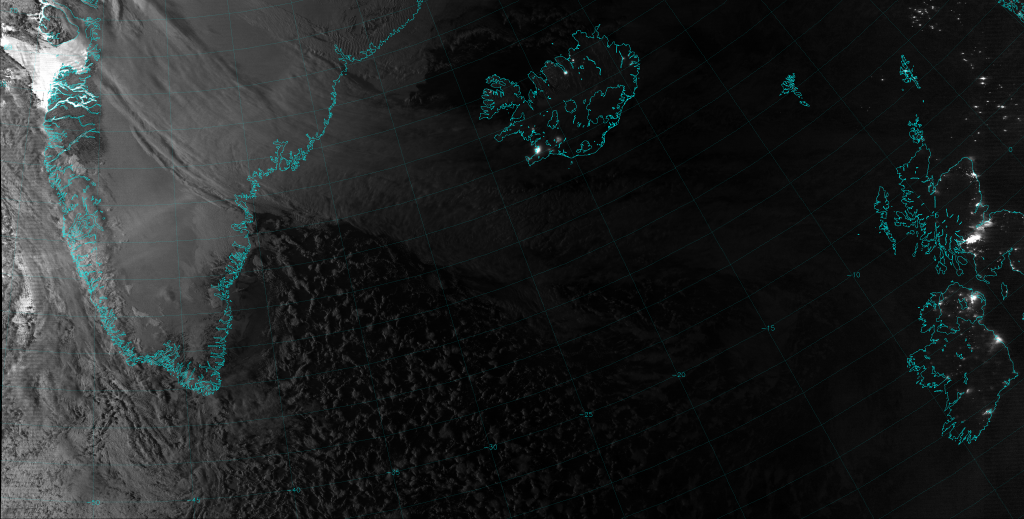 VIIRS Day/Night Band image, taken at 04:13 UTC 10 January 2014