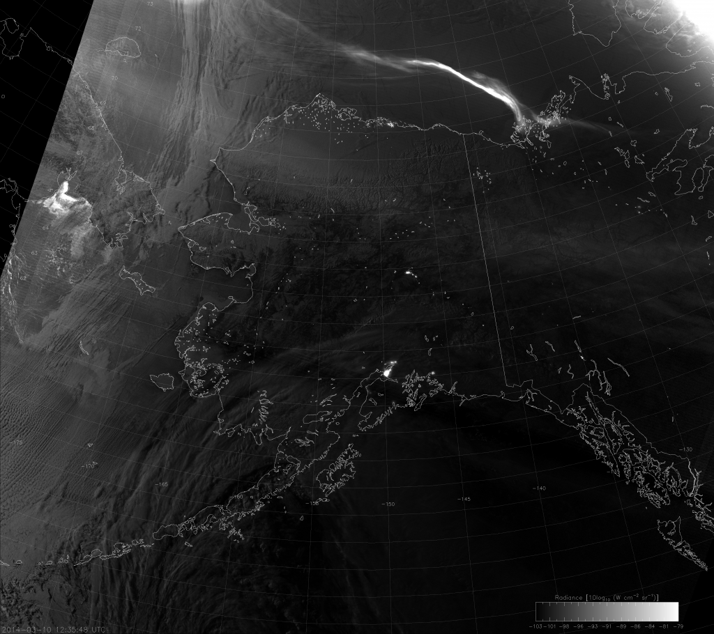 VIIRS Day/Night Band image, taken 12:35 UTC 10 March 2014