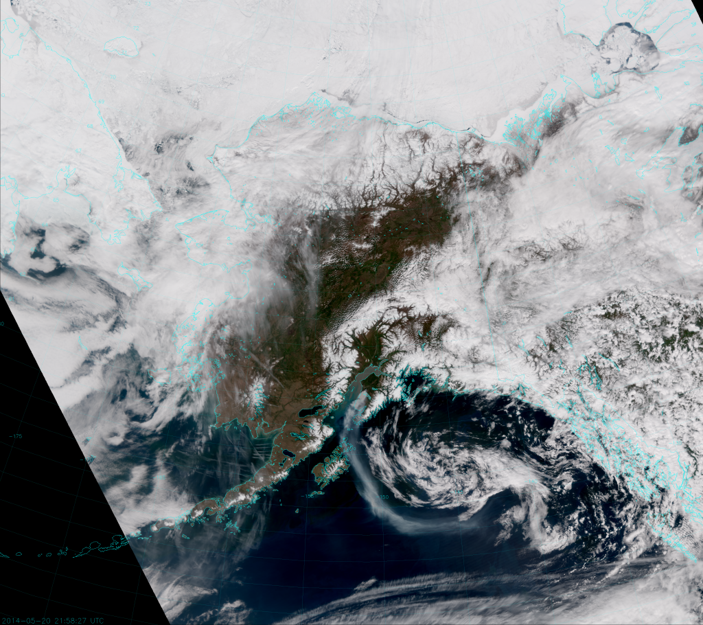 "VIIRS ""True Color"" RGB Composite, taken 21:58 UTC 20 May 2014"