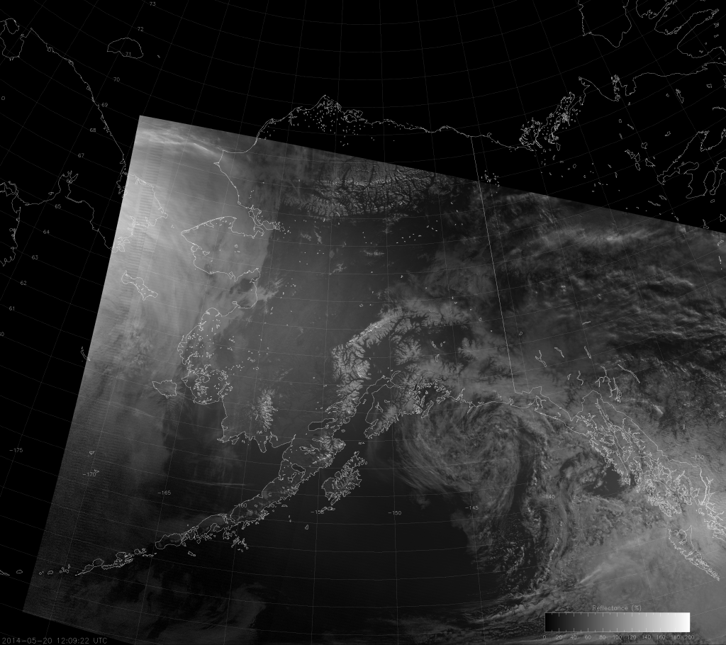 VIIRS NCC image, taken 12:09 UTC 20 May 2014