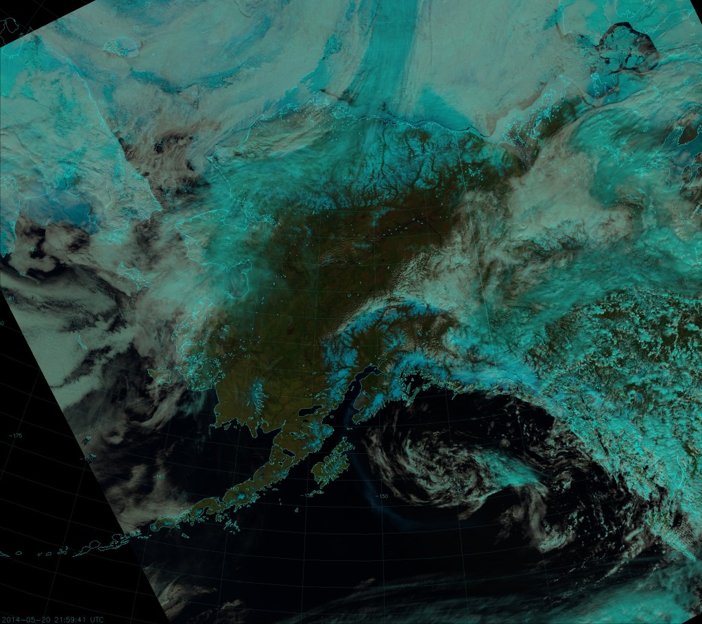 "VIIRS ""Natural Color"" composite, taken 21:58 UTC 20 May 2014"