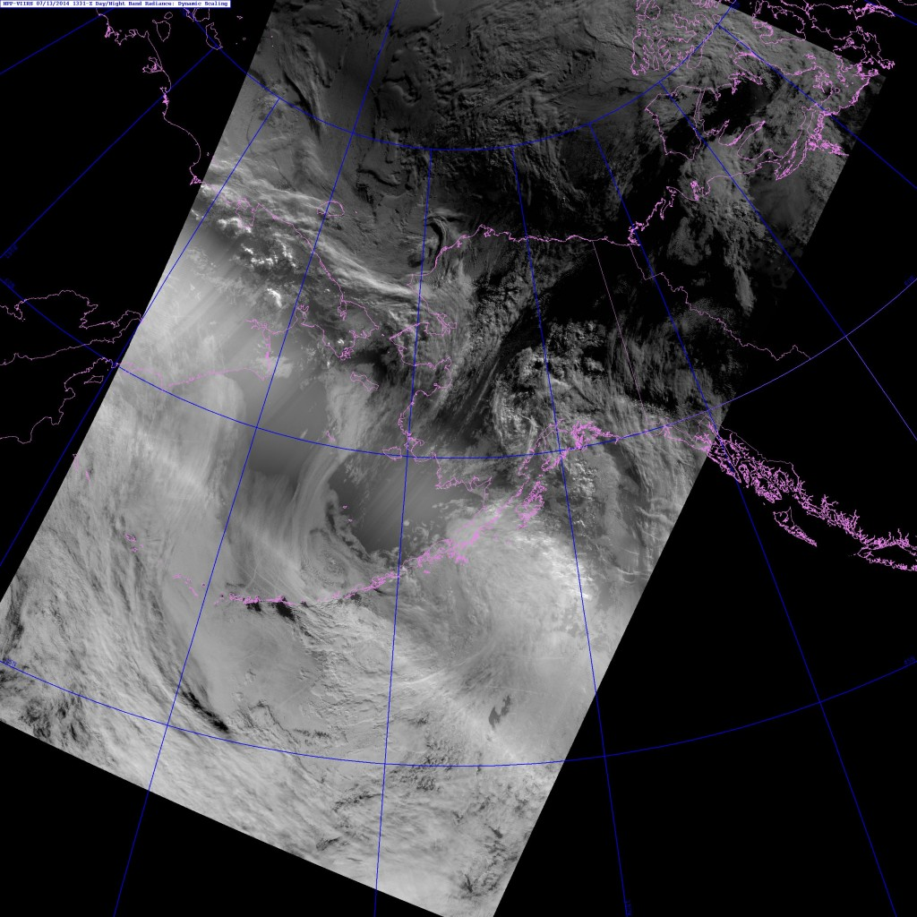VIIRS DNB image from 13:31 UTC 13 July 2014