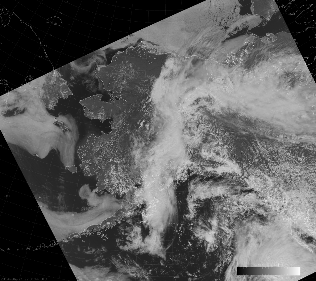 VIIRS DNB image from 22:01 UTC 21 June 2014