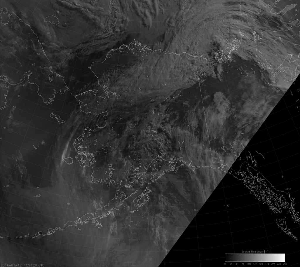 VIIRS DNB image from 13:53 UTC 12 July 2014