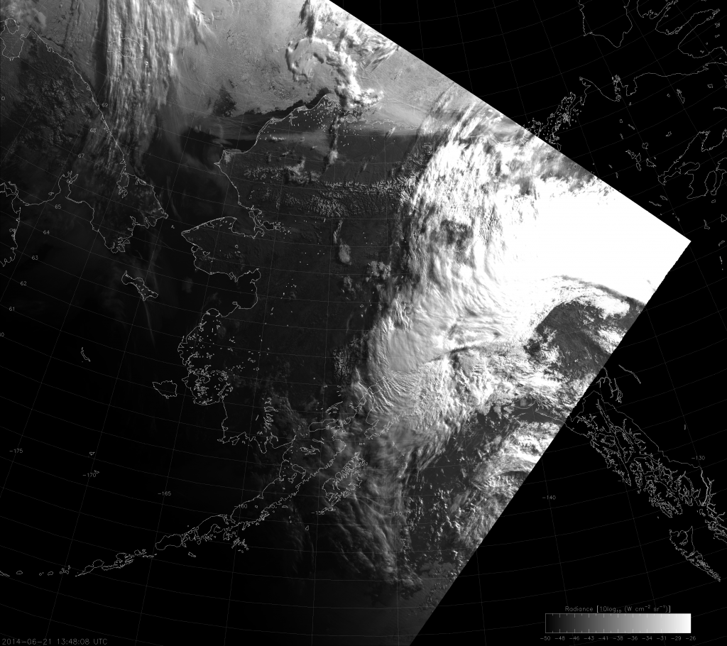VIIRS DNB image from 13:48 UTC 21 June 2014