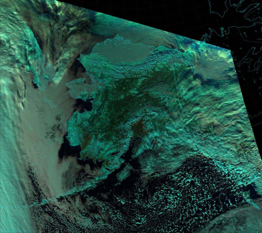 VIIRS Natural Color RGB composite of channels I-1, I-2 and I-3, taken 22:51 UTC 4 November 2014