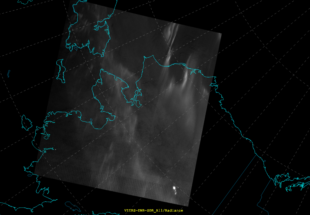 VIIRS DNB image manually scaled (15:14 UTC 21 January 2015)