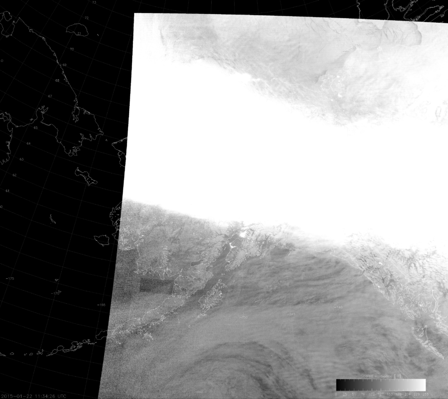"VIIRS DNB image with un-modified ""erf-dynamic scaling"" (11:34 UTC 22 January 2015)"