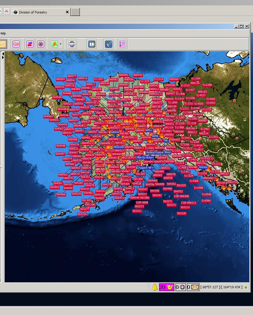 Large Wildfire Map.Fire Temperature Rgb Seeing The Light