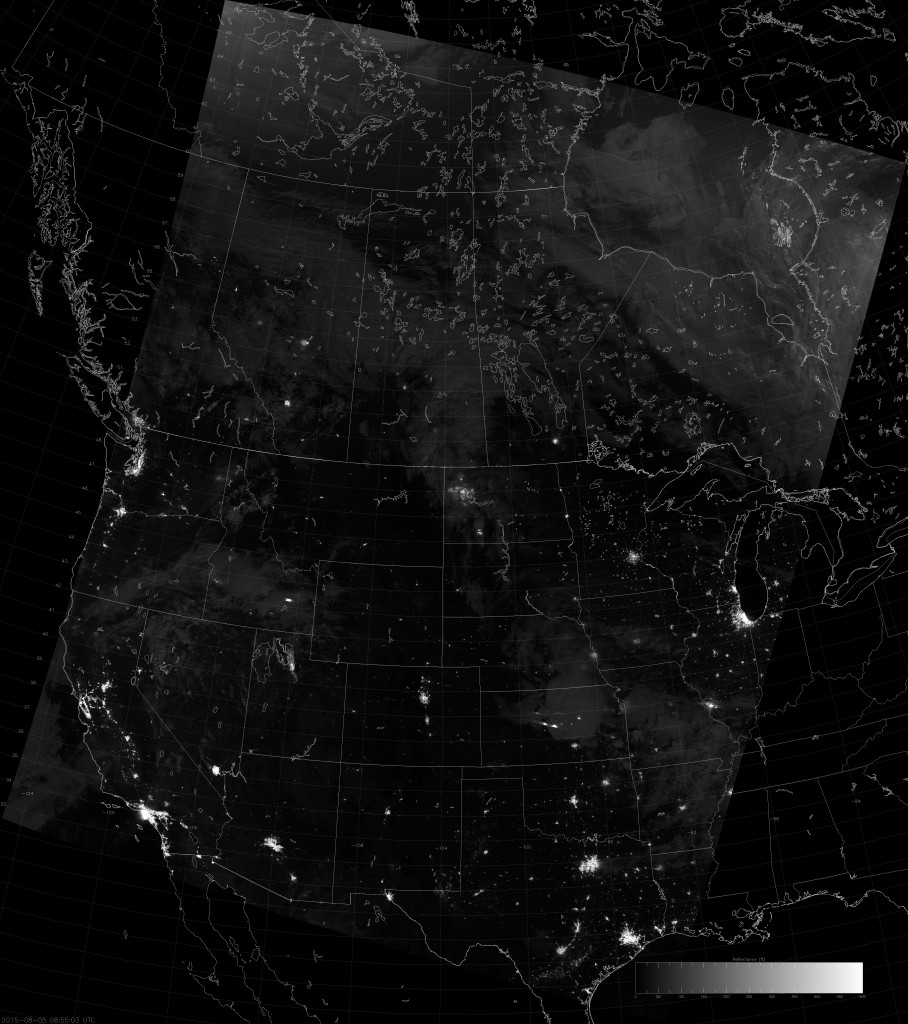 Example VIIRS NCC image (08:55 UTC 5 August 2015) scaled between 0 and 5