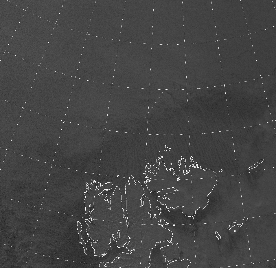 VIIRS Day/Night Band image (00:42 UTC 9 February 2015)