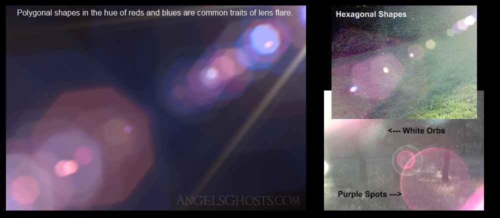 Examples of lens ghosts. Pictures courtesy Angels&Ghosts.com.