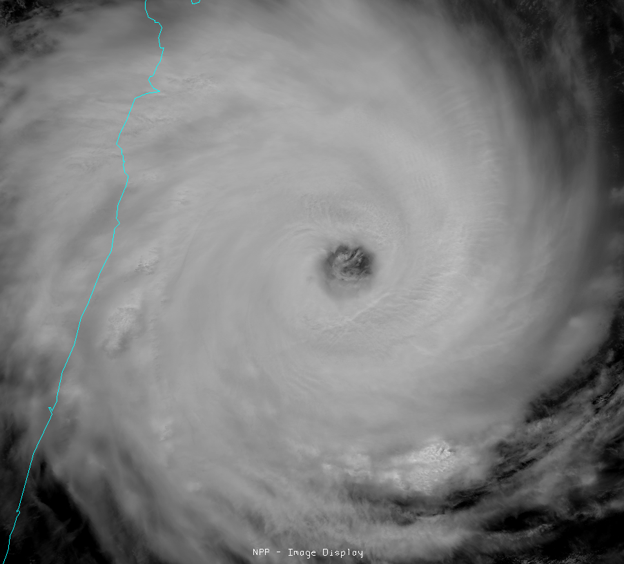 Visible image of Super Cyclone Giovanna