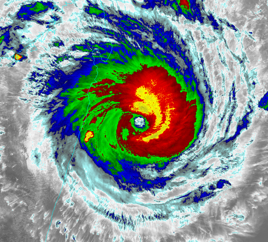 IR-window image of Super Cyclone Giovanna
