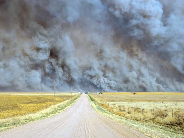 The Heartstrong Fire in Yuma County, Colorado, 18 March 2012