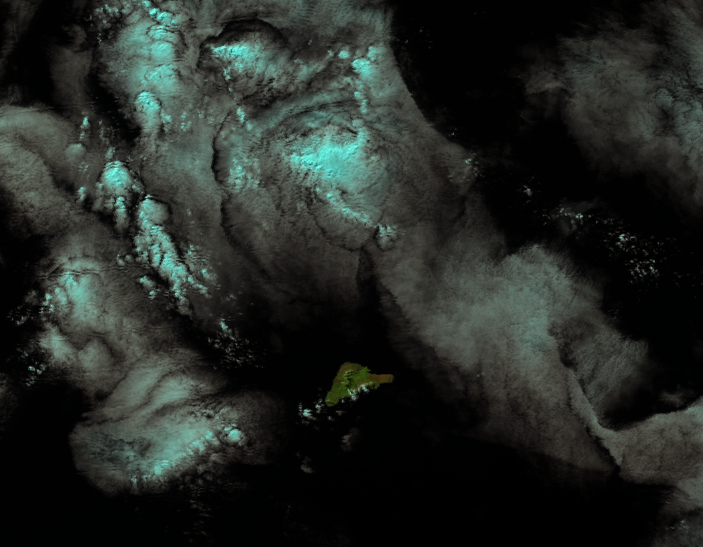 False color RGB composite (I1-I2-I3) image of Easter Island, 20:44 UTC 25 April 2012