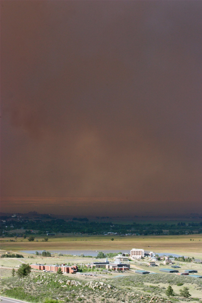 Uncredited photo of smoke from the High Park Fire