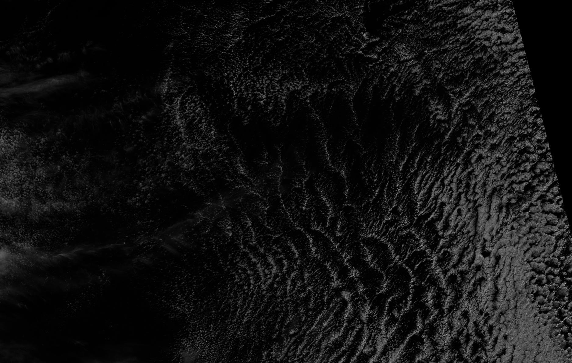 Visible image (I-01) of Tristan da Cunha from VIIRS, taken 14:49 UTC 25 June 2012