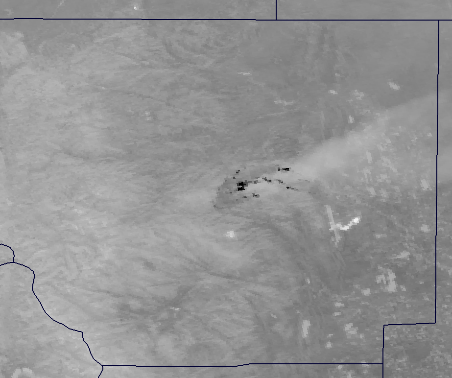 Channel I-05 image of the High Park Fire from VIIRS taken 19:59 UTC 10 June 2012