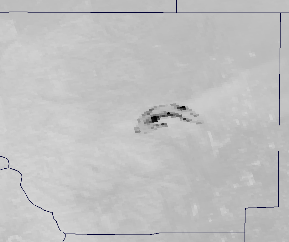 Channel M-13 image of the High Park Fire from VIIRS taken 19:59 UTC 10 June 2012
