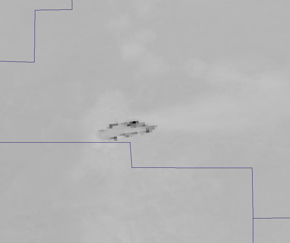 Channel M-13 image of the Little Bear Fire from VIIRS taken 20:16 UTC 9 June 2012