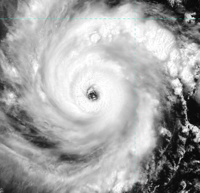 VIIRS visible image (channel I-01) of Hurricane Emilia, taken 20:48 UTC 9 July 2012