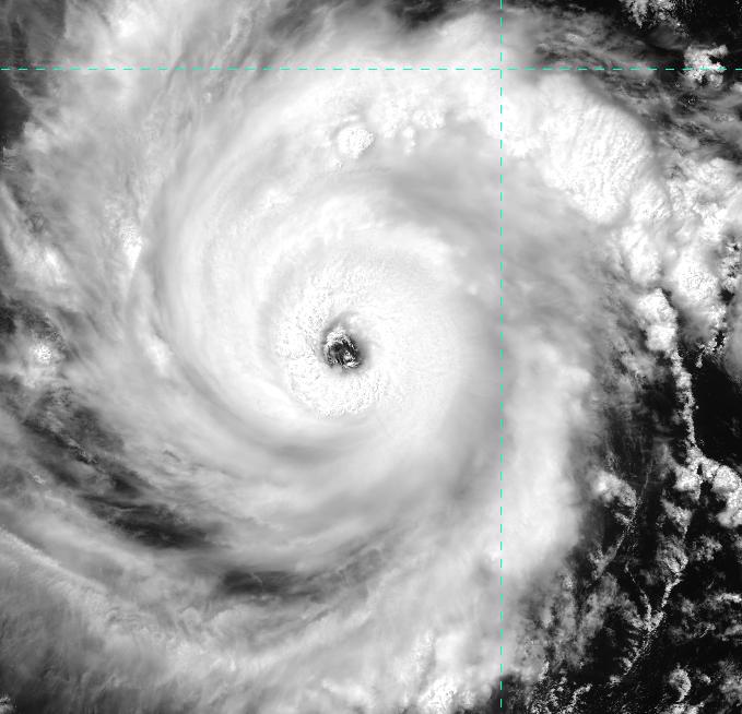 VIIRS visible image (channel I-01) of Hurricane Emilia, taken 20:48 UTC 9 July 2012