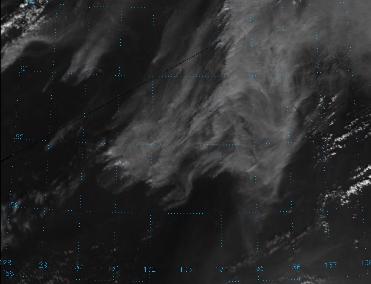 Visible image of fires in Siberia from VIIRS channel M-5, taken 02:38 UTC 4 August 2012