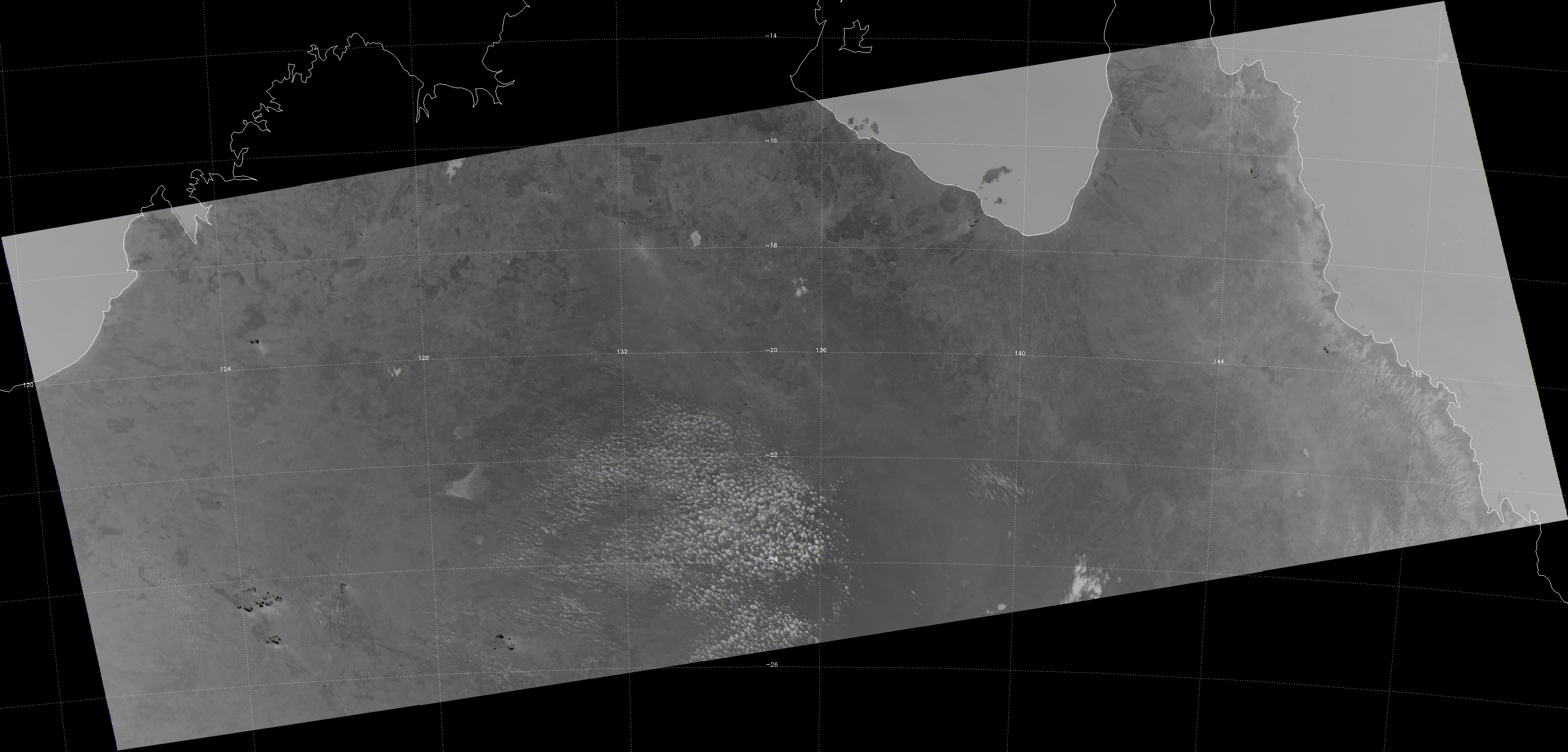 VIIRS channel M-13 image of central Australia, taken 04:34 UTC 19 September 2012