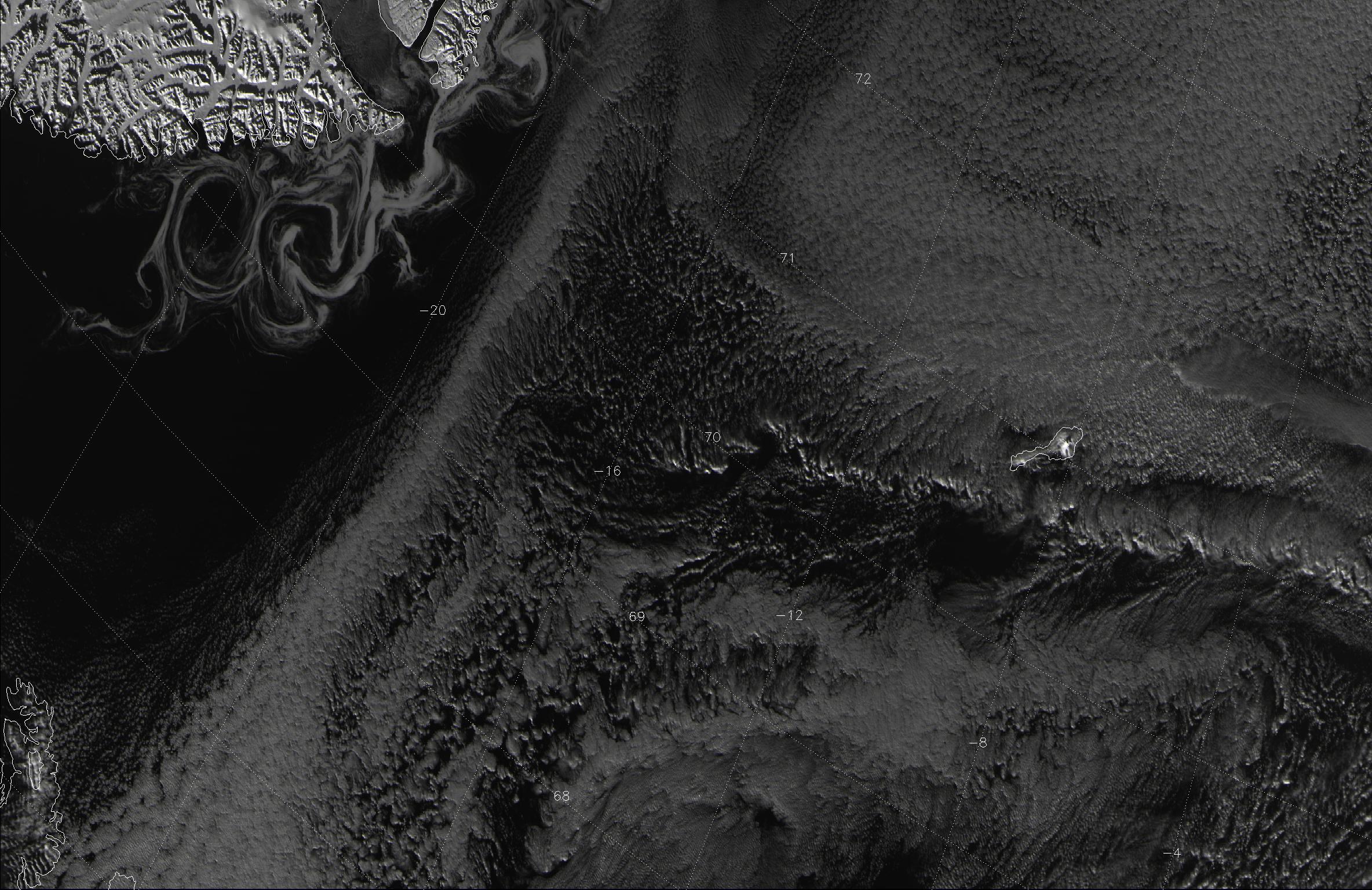 VIIRS channel I-01 image taken 12:43 UTC 18 October 2012