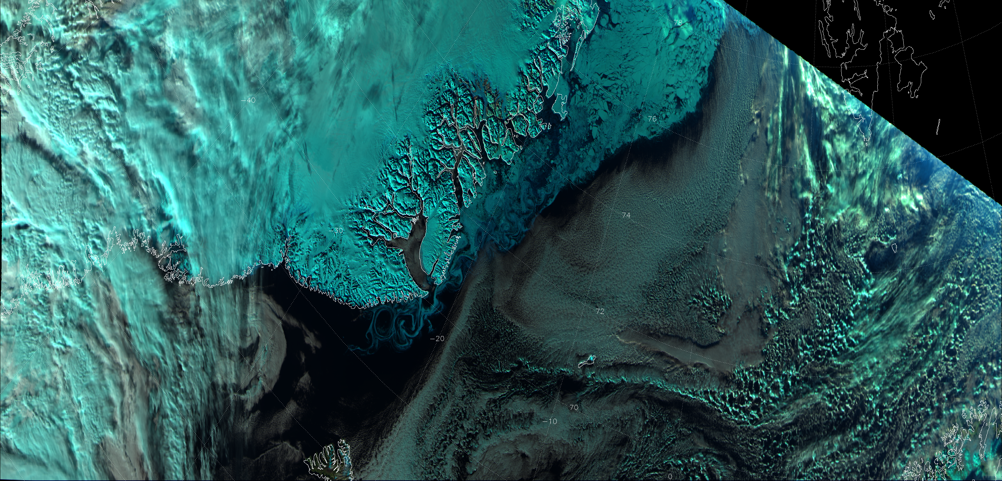 VIIRS natural color image of channels M-05, M-07 and M-10, taken 12:43 UTC 18 October 2012