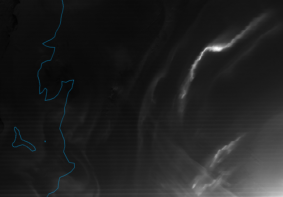 VIIRS DNB image of the aurora australis, taken 00:22 UTC 1 October 2012