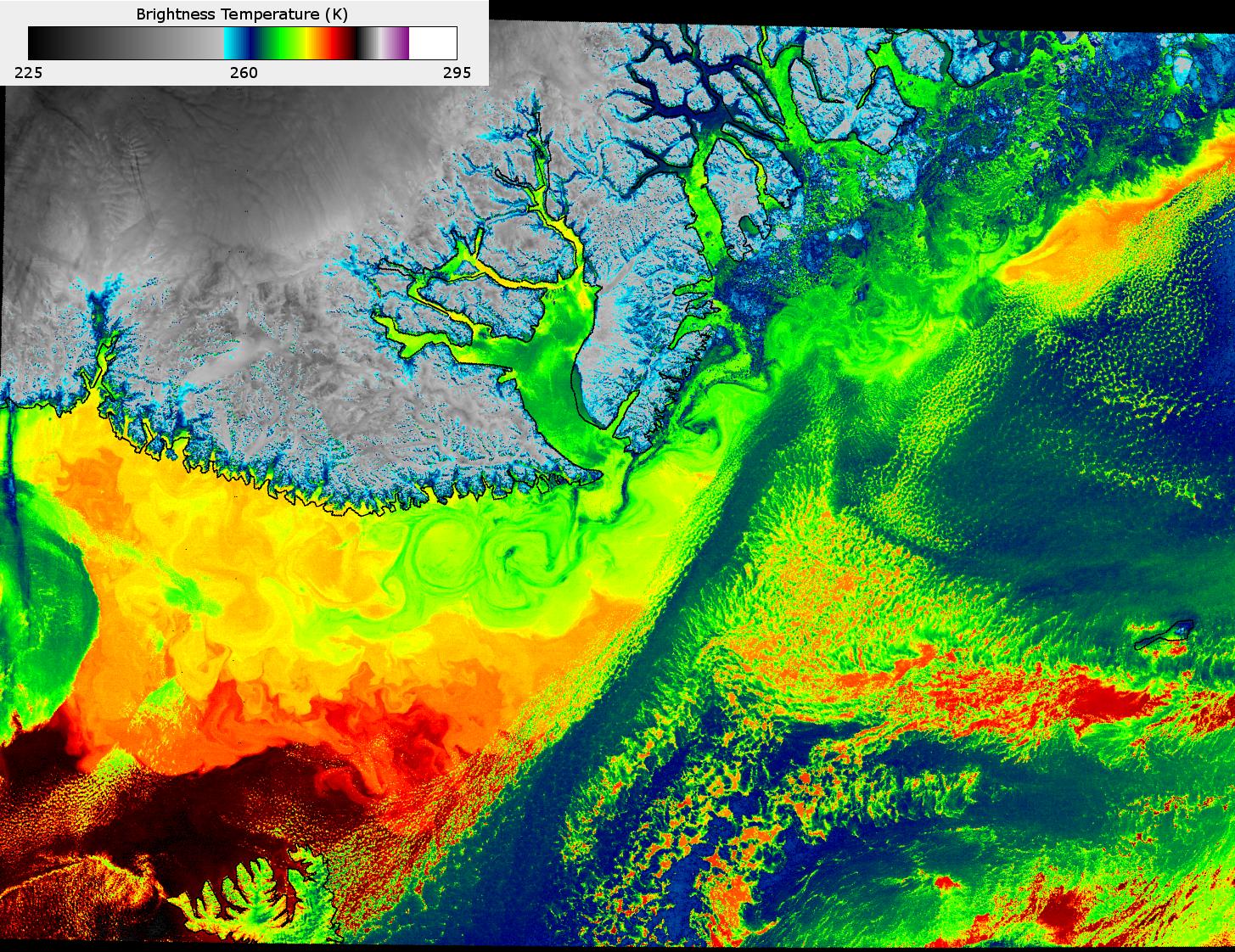 VIIRS channel I-05 image, taken 12:43 UTC 18 October 2012
