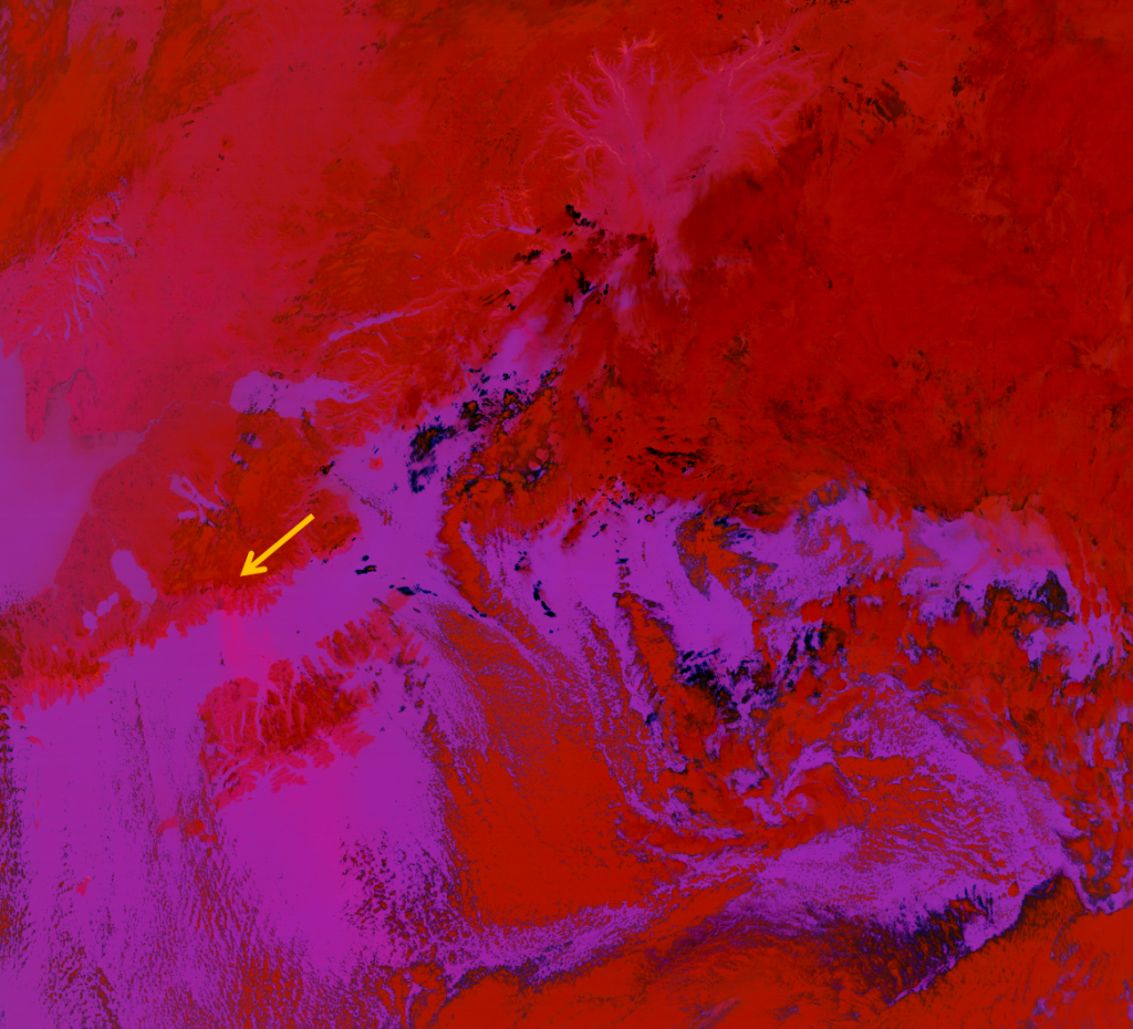 The EUMETSAT Dust RGB composite applied to VIIRS for 22:23 UTC 30 October 2012