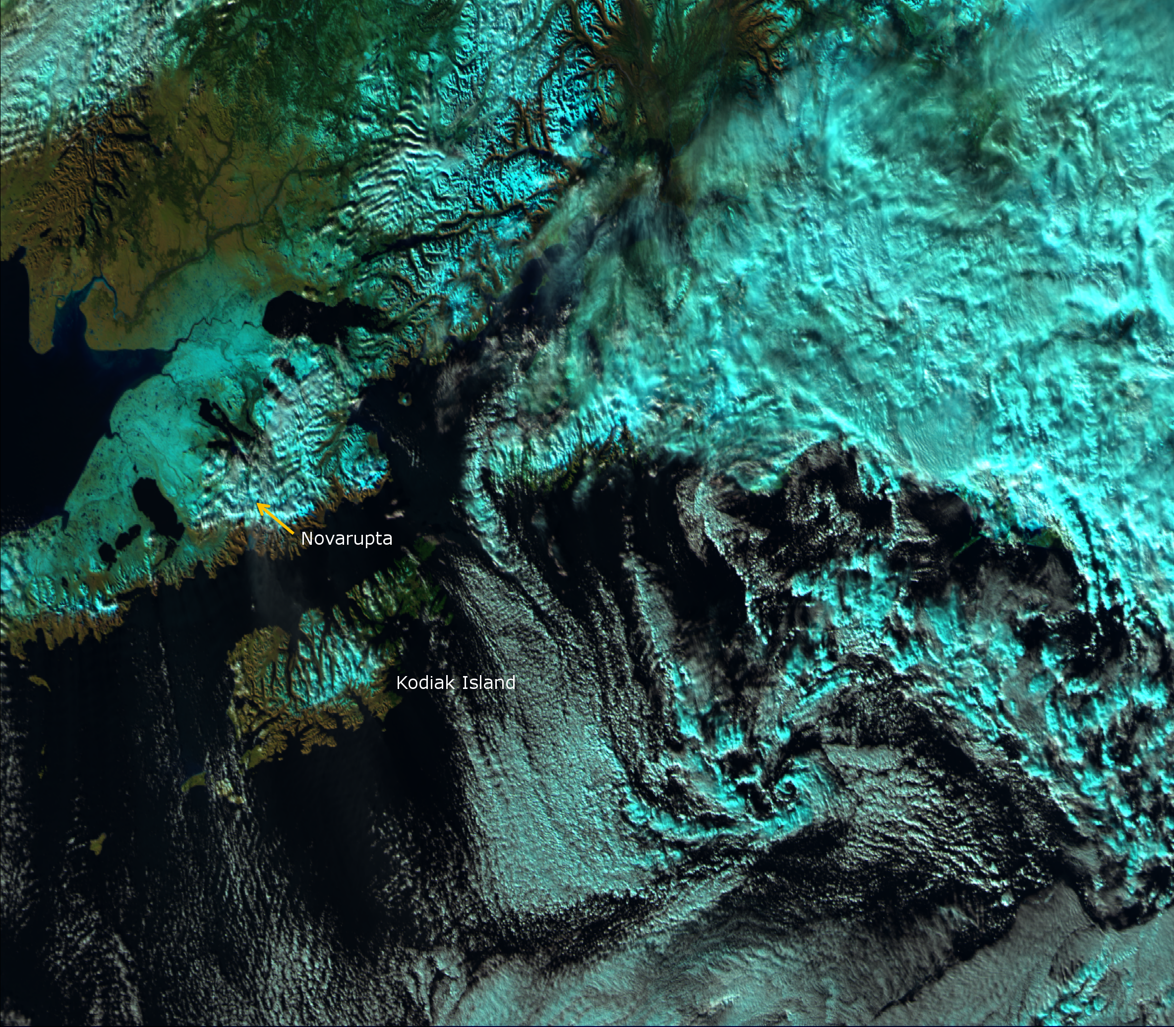 VIIRS false color RGB composite of channels M05, M-07 and M-10, taken 22:23 UTC 30 October 2012
