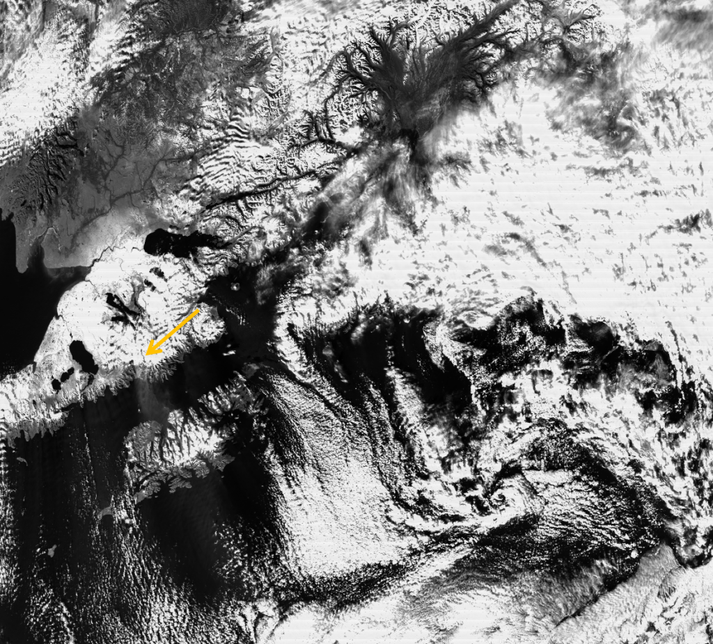 VIIRS channel M-06 image, taken 22:23 UTC 30 October 2012