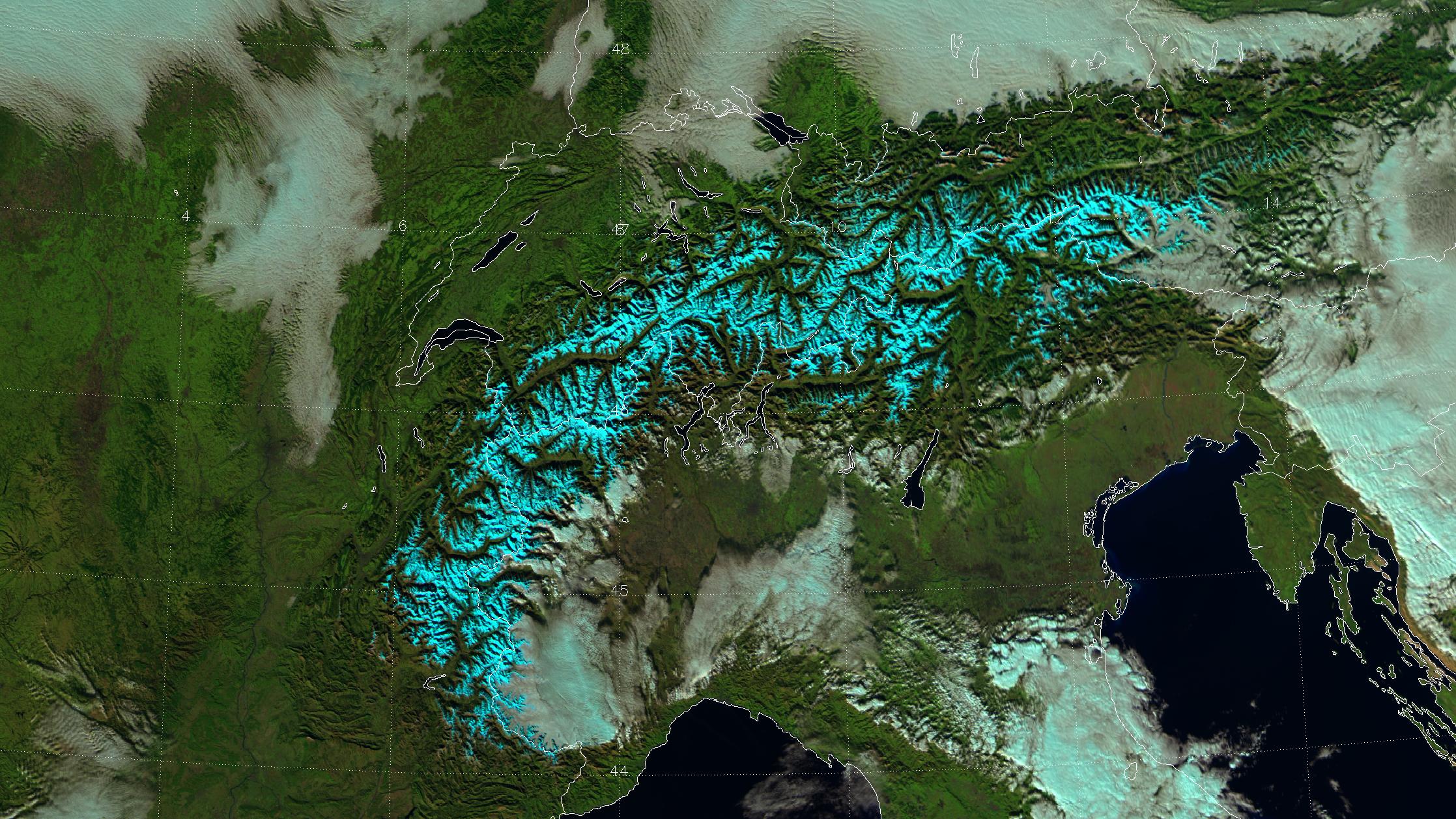 """VIIRS """"natural color"""" composite of channels I-01, I-02 and I-03, taken 12:29 UTC 14 November 2012"""