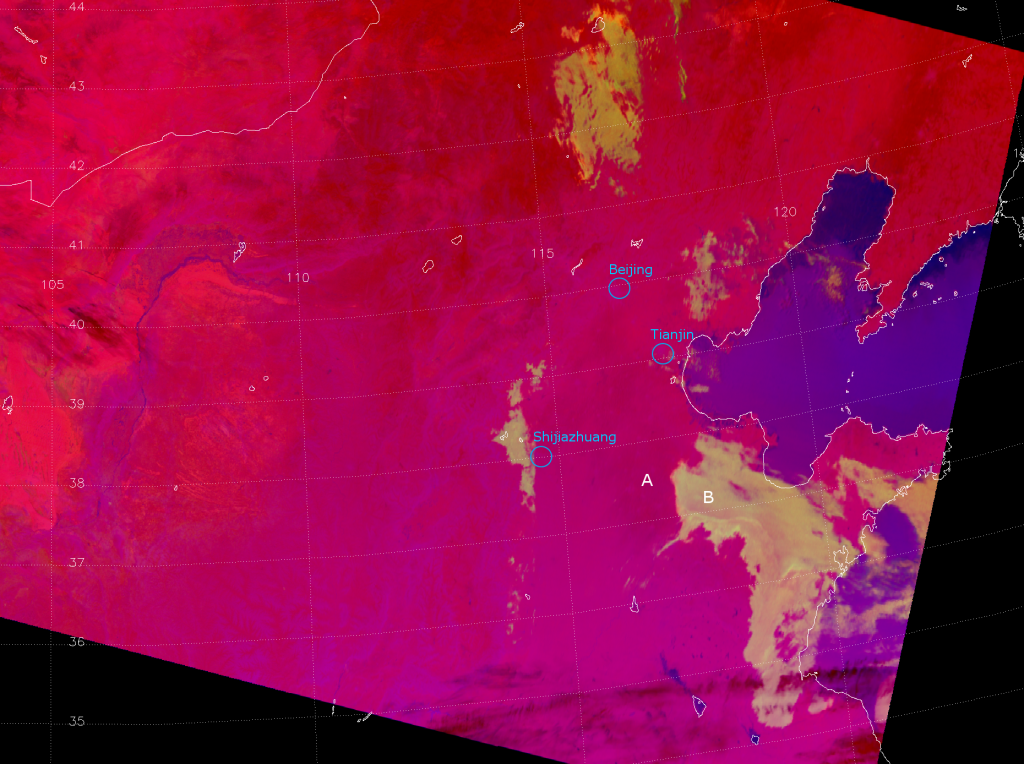 The EUMETSAT Nighttime Microphysics/Fog RGB applied to VIIRS, valid 18:50 UTC 25 January 2013
