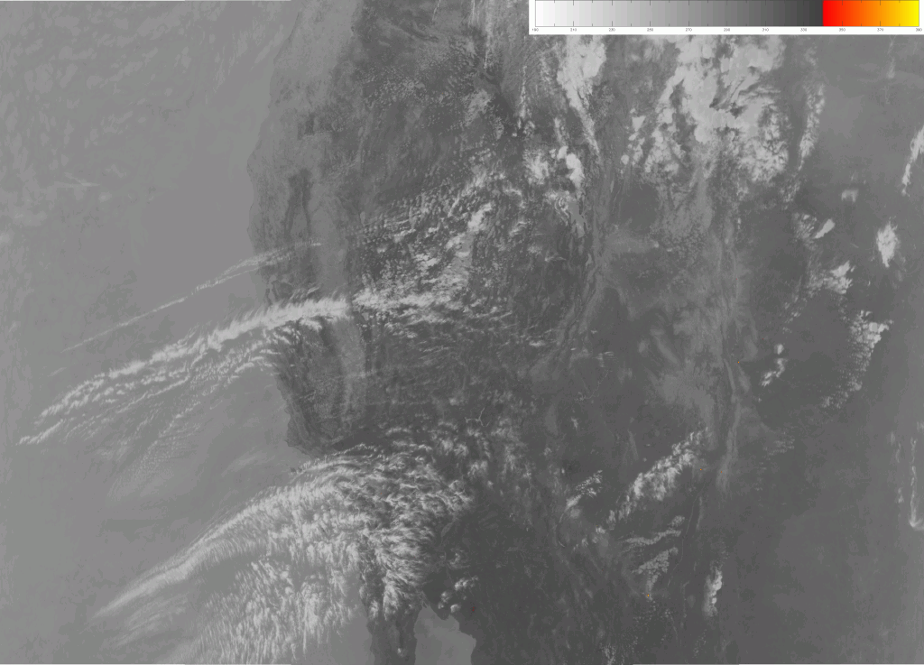 VIIRS channel M-13 image, taken 20:36 UTC 11 June 2013