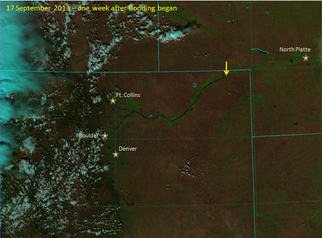 VIIRS false-color RGB composite of channels I-01, I-02 and I-03, taken 20:01 UTC 17 September 2013