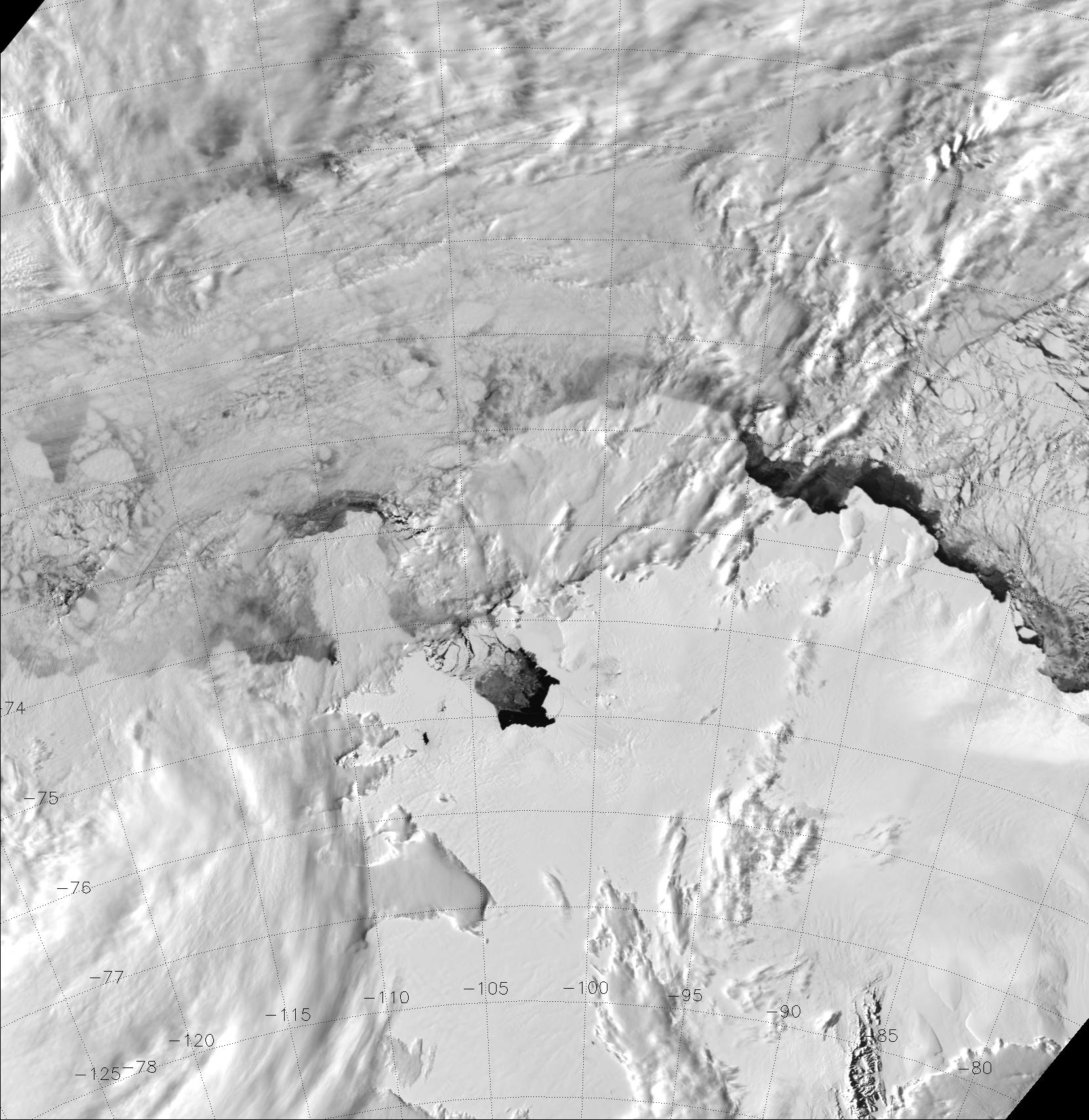 VIIRS visible (M-5) image, taken 23:34 UTC 7 November 2013