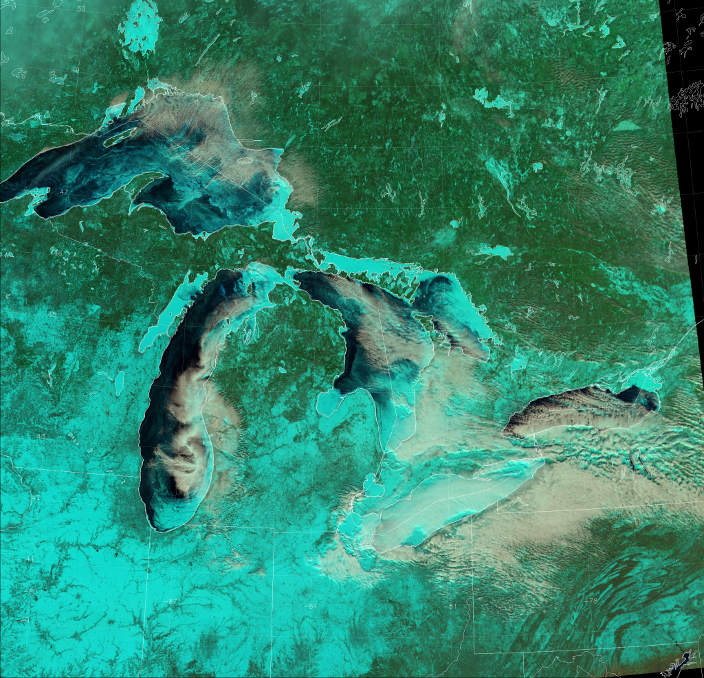 "VIIRS ""Natural Color"" composite of channels I-01, I-02, and I-03, taken 19:07 UTC 11 February 2014"