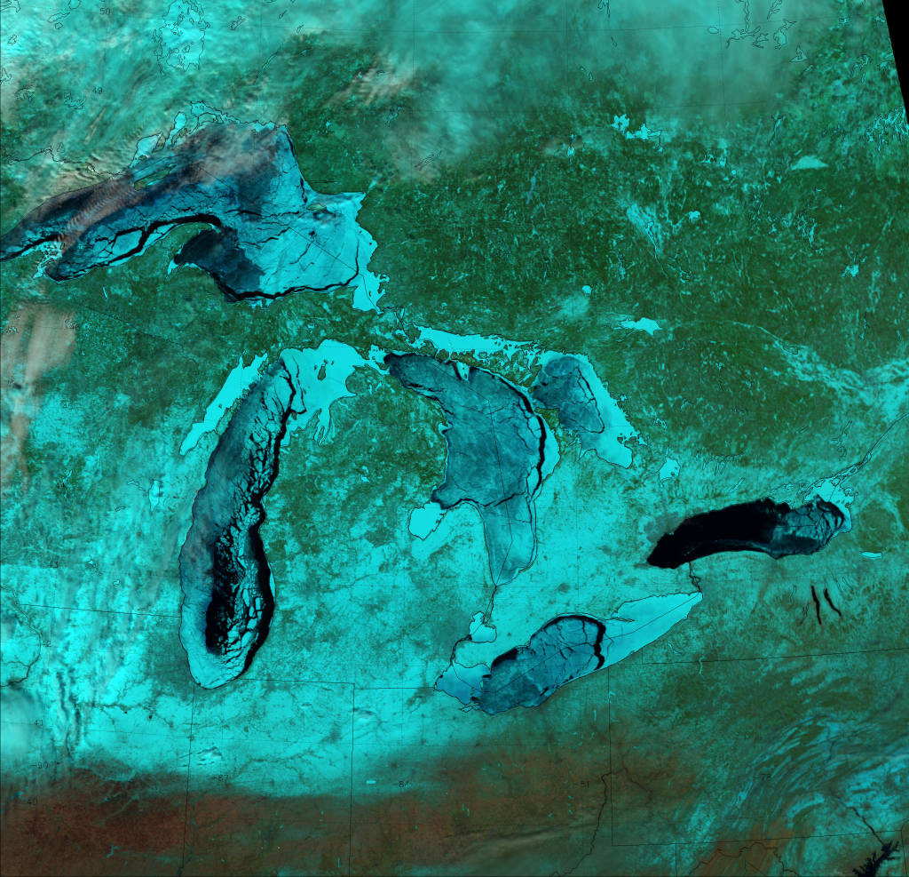 VIIRS Natural Color RGB composite of channels M-5, M-7 and M-10, taken 18:35 UTC 6 March 2014