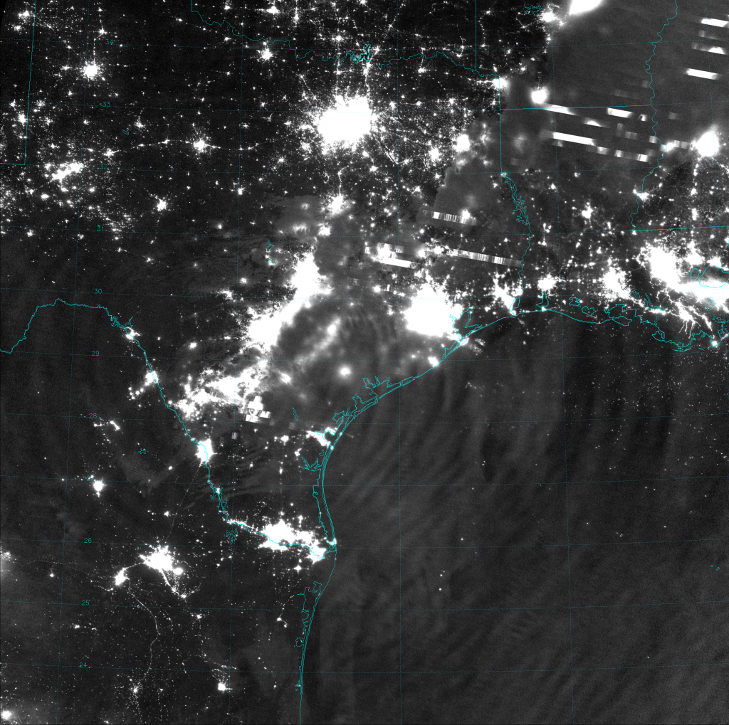 VIIRS Day/Night Band image, taken at 18:13 UTC 4 April 2014