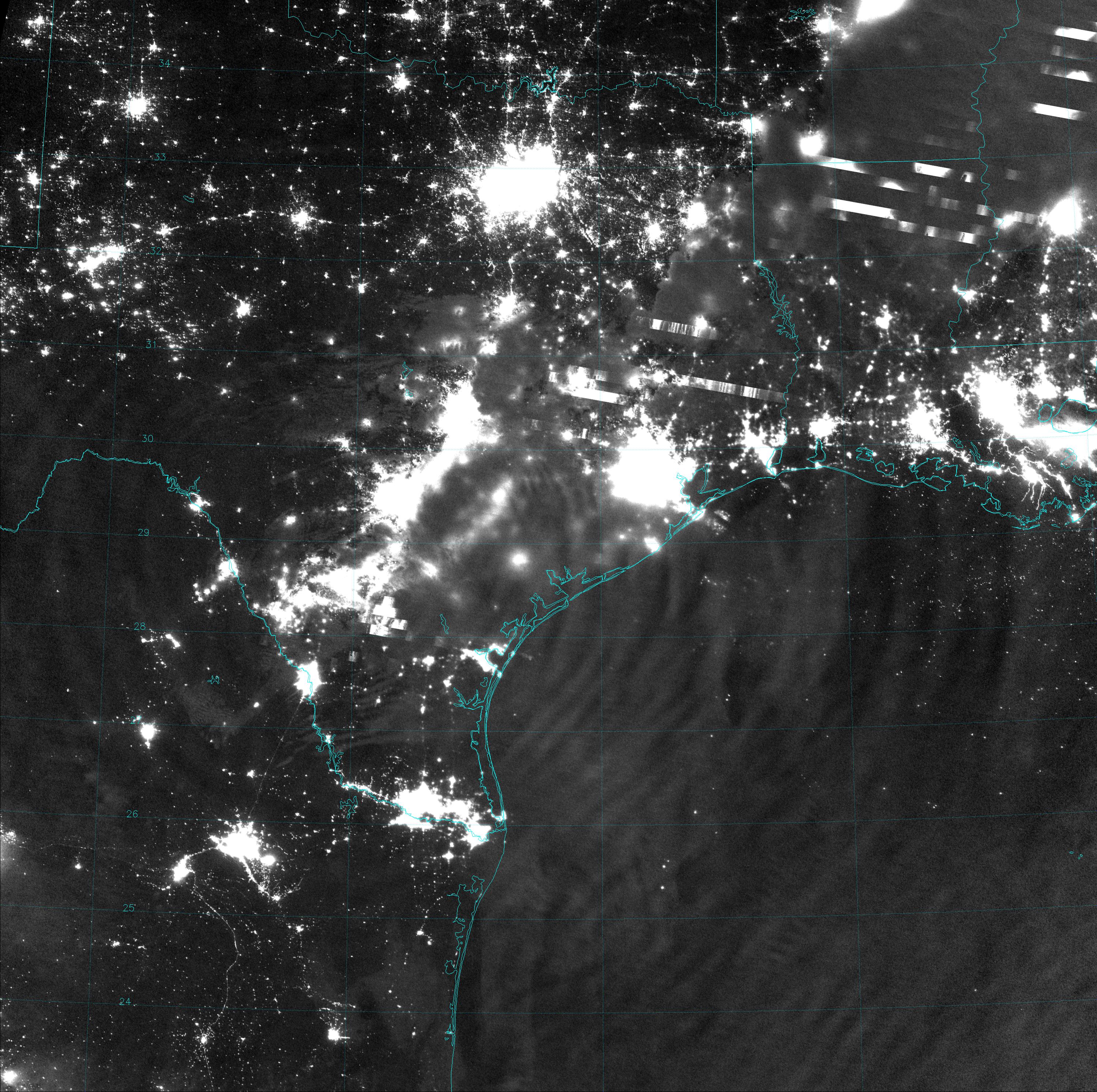 VIIRS Day/Night Band image, taken at 18:13 UTC 4 April 2014
