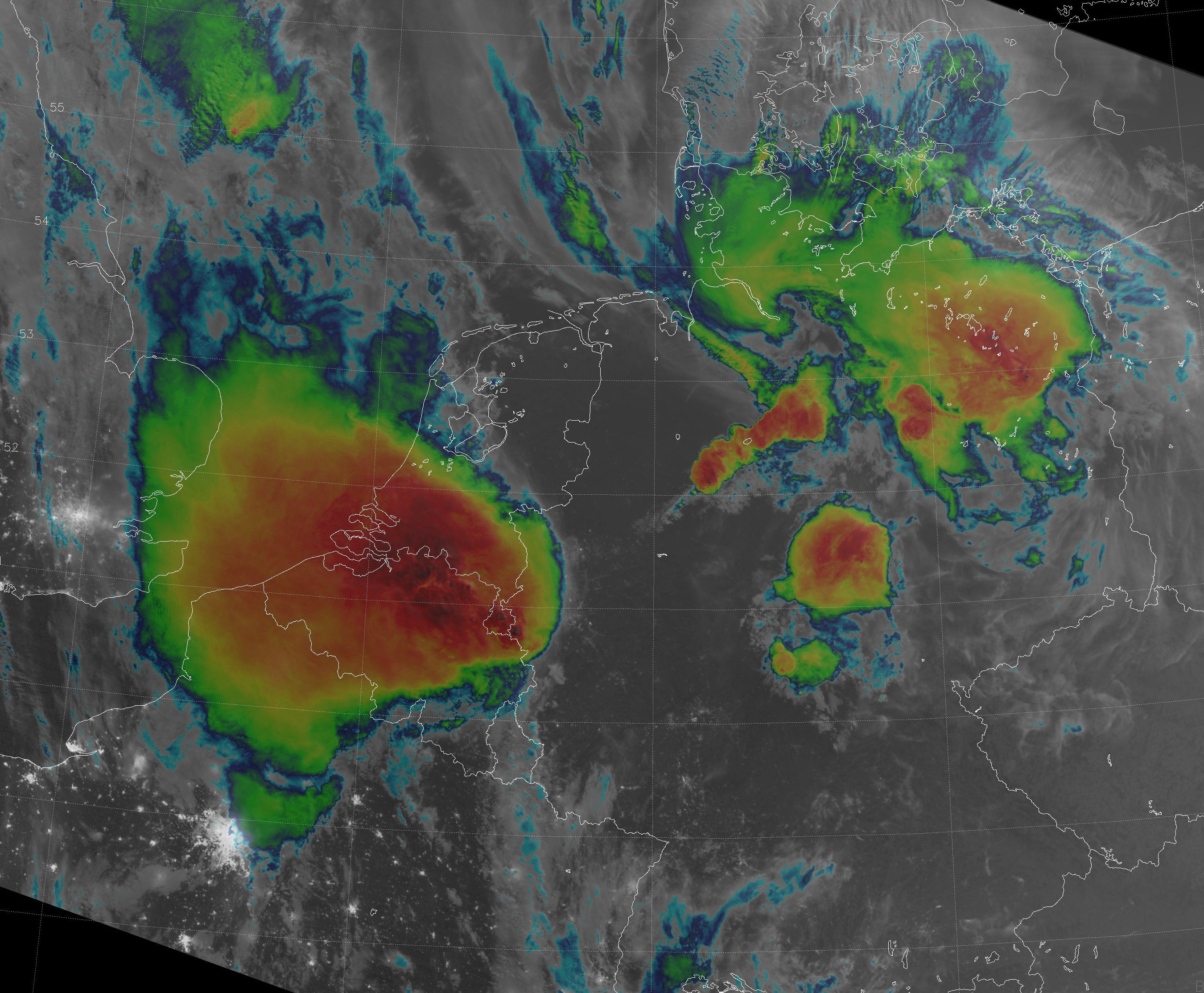 VIIRS combined IR/DNB image from 02:07 UTC 10 June 2014